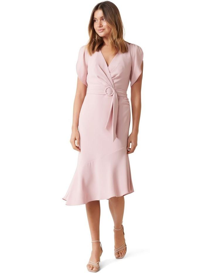 Olivia Tulip Sleeve Crepe Midi Dress image 1
