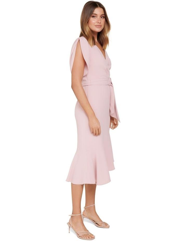 Olivia Tulip Sleeve Crepe Midi Dress image 2
