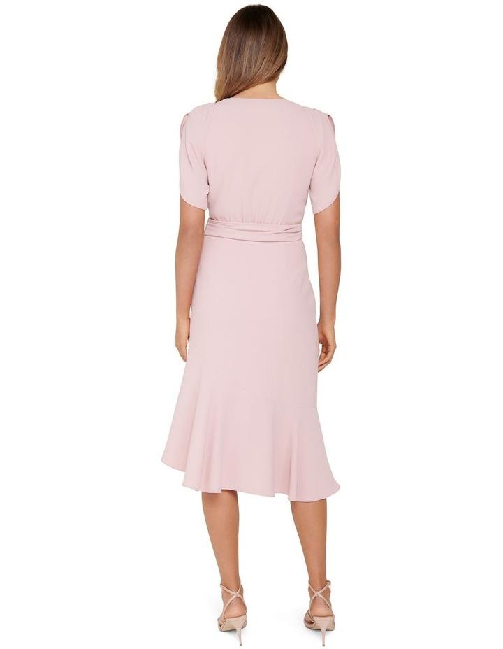 Olivia Tulip Sleeve Crepe Midi Dress image 3