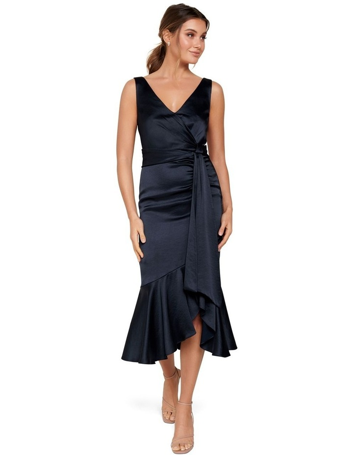 Gracelyn Satin Wrap Midi Dress image 6