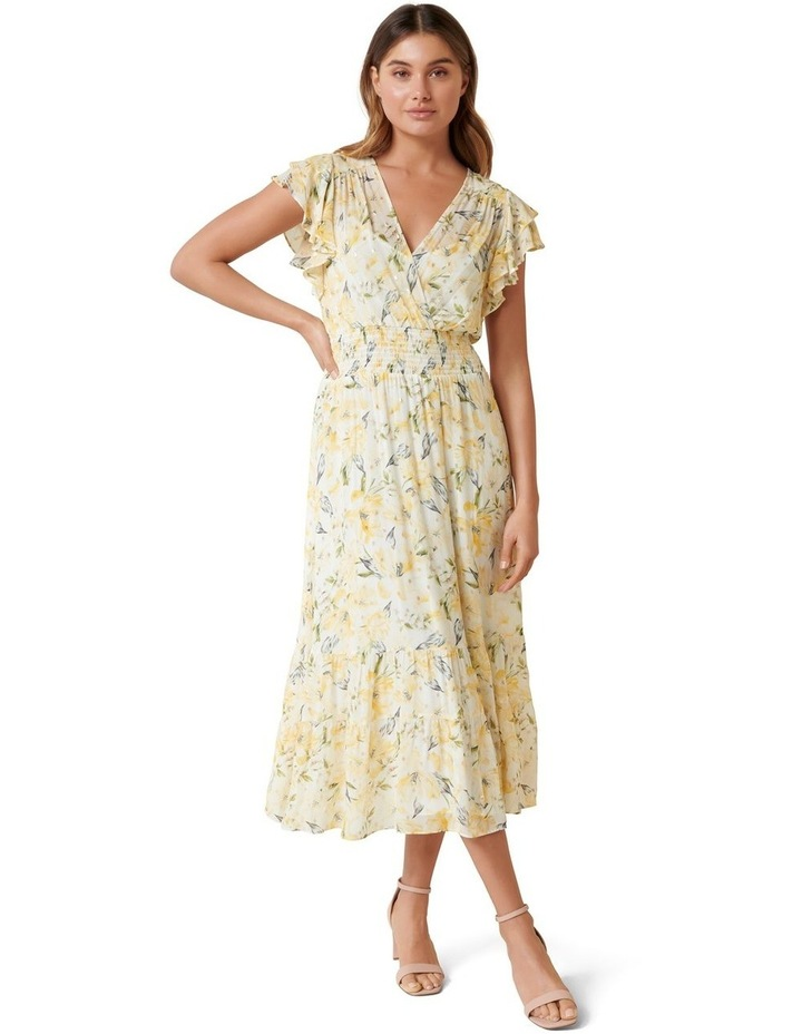 Jenny Metallic Tiered Midi Dress image 1