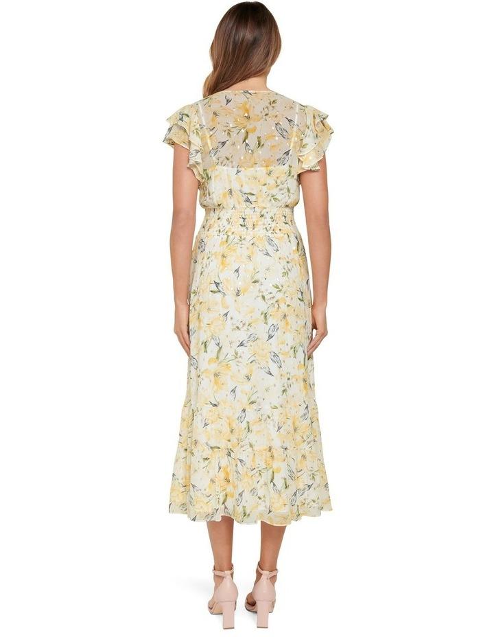 Jenny Metallic Tiered Midi Dress image 3