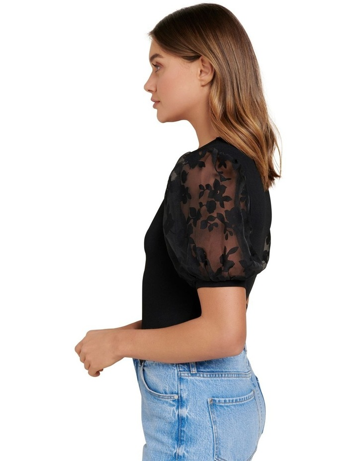 Roza Floral Orgaza Puff Sleeve Top image 2