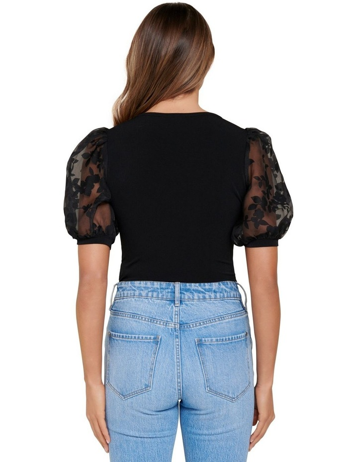 Roza Floral Orgaza Puff Sleeve Top image 3