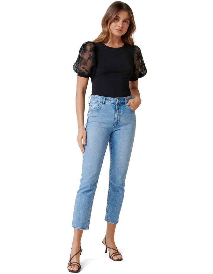 Roza Floral Orgaza Puff Sleeve Top image 4