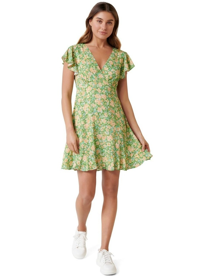 Shelby Flutter Sleeve Skater Dress image 4