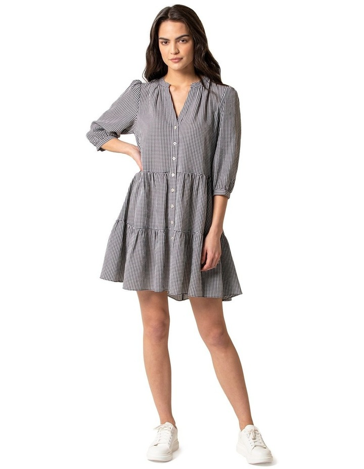 Gina Gingham Smock Dress image 1