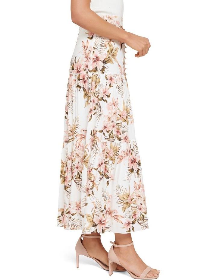 Raina Linen Blend Tiered Maxi Skirt image 2