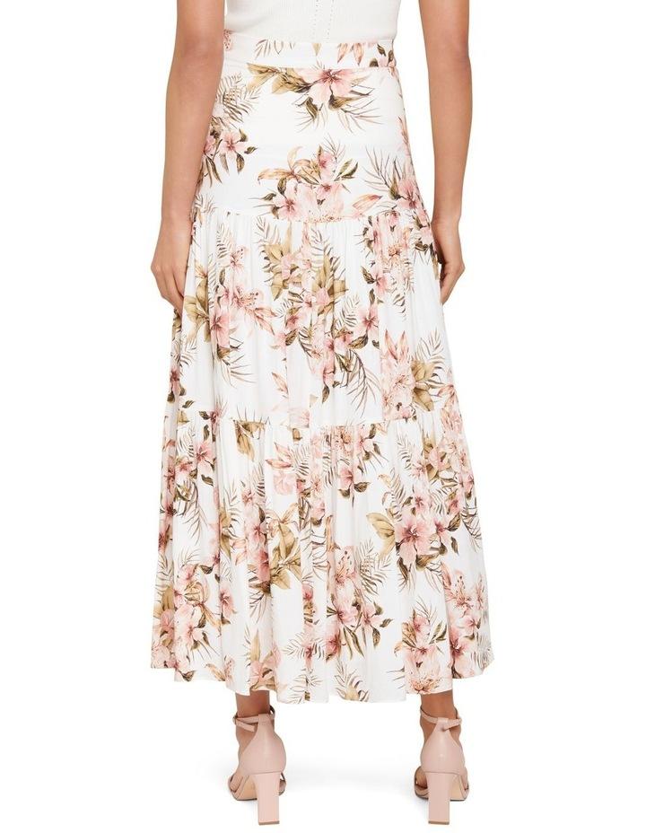 Raina Linen Blend Tiered Maxi Skirt image 3