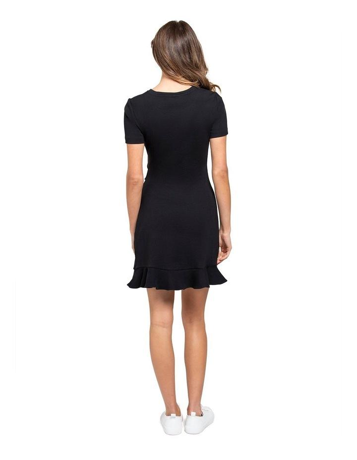 Annie Rib Short Sleeve Frill Dress image 3