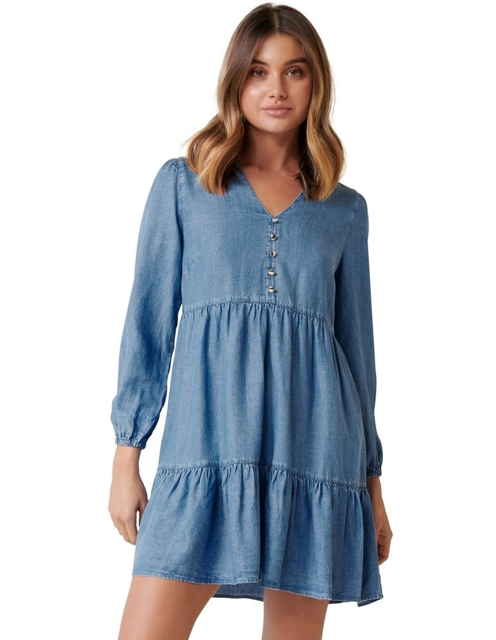 Lucy Denim Smock Dress image 1