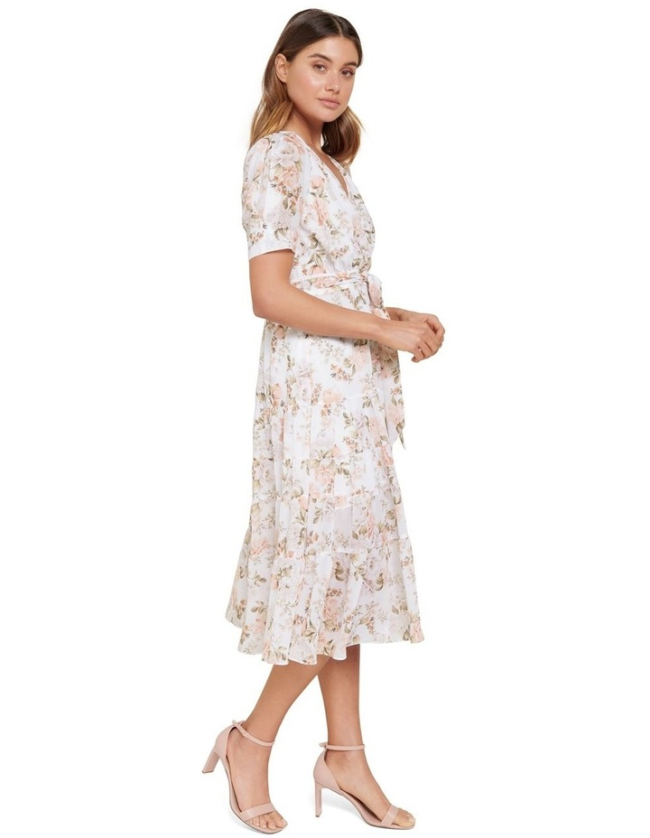 Jordan Petite Puff Sleeve Tiered Midi Dress image 2