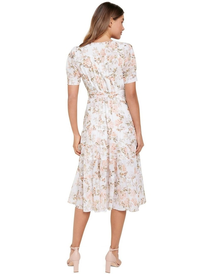 Jordan Petite Puff Sleeve Tiered Midi Dress image 3