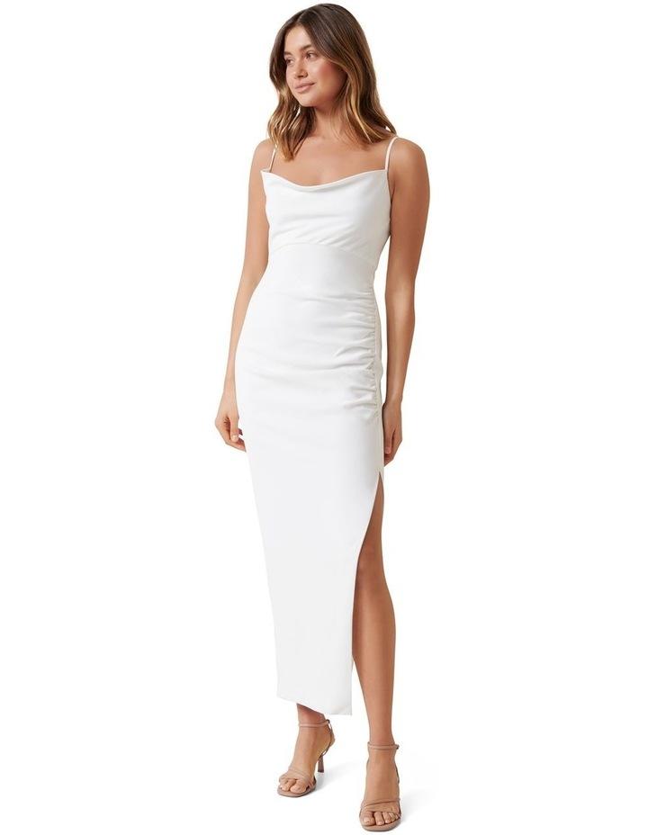 Linda Crepe Cowl Neck Column Dress image 1