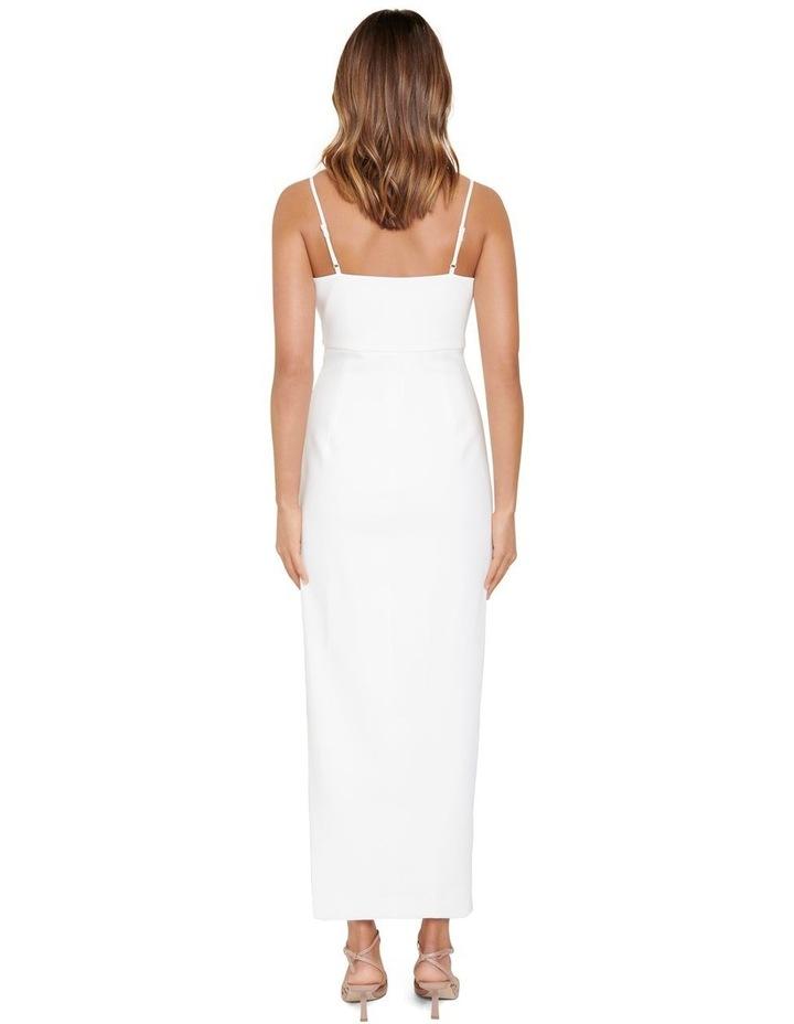 Linda Crepe Cowl Neck Column Dress image 3