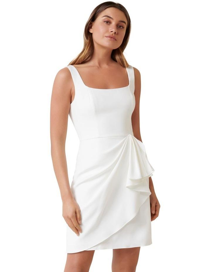 Kaitlyn Square Neck Drape Mini Dress image 1