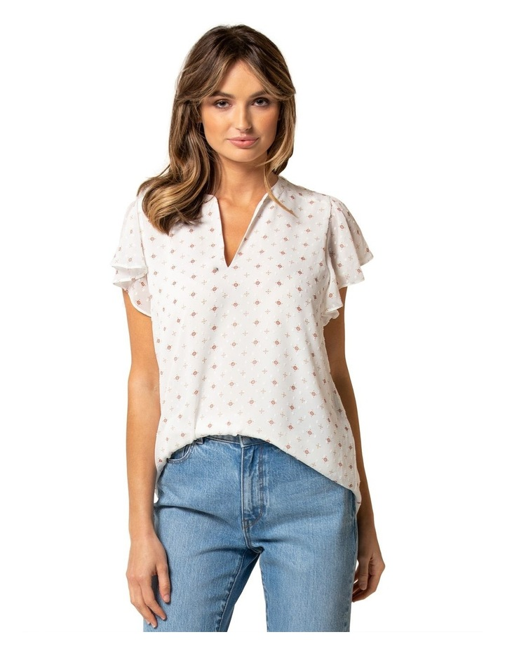 Kelly Cotton Puff Sleeve Blouse image 1
