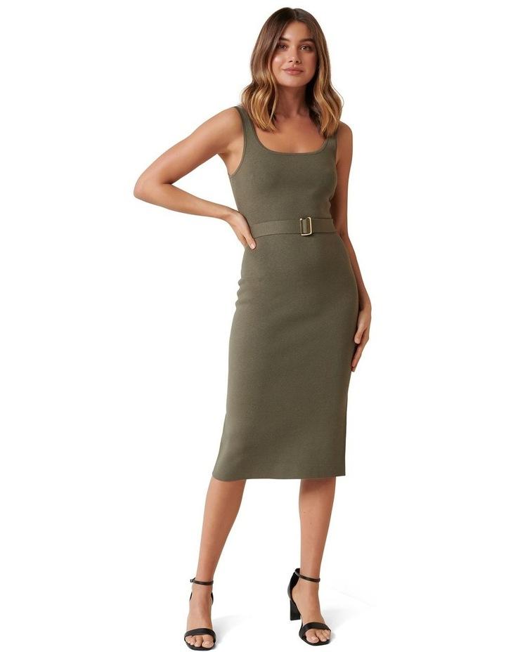 Gabriella Square Neck Midi Knit Dress image 1