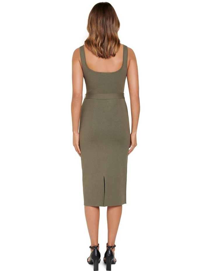 Gabriella Square Neck Midi Knit Dress image 3