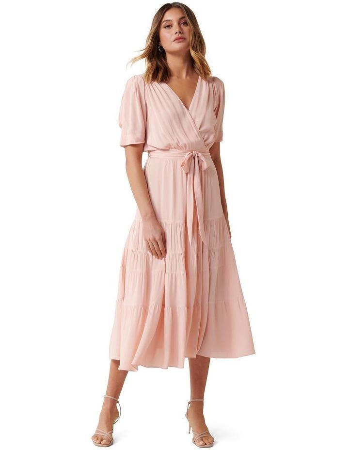 Jordan Puff Sleeve Tiered Midi Dress image 1