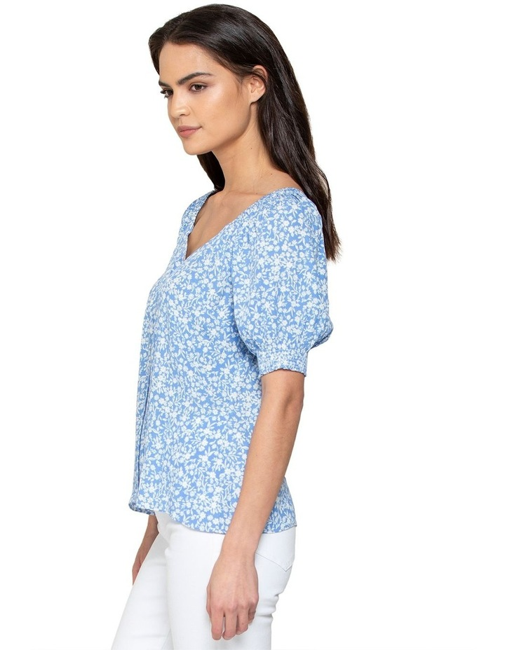 Audrey Puff Sleeve Button Through Blouse image 2