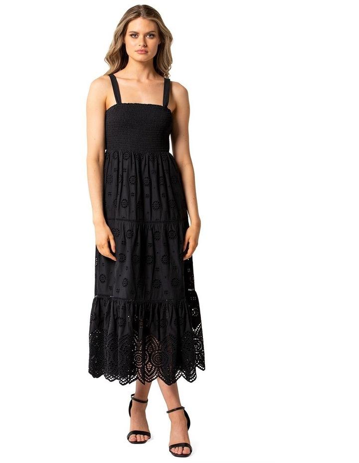 Loretta Shirred Midi Dress image 1