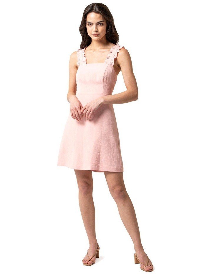 Demi Linen Frill Mini Dress image 1
