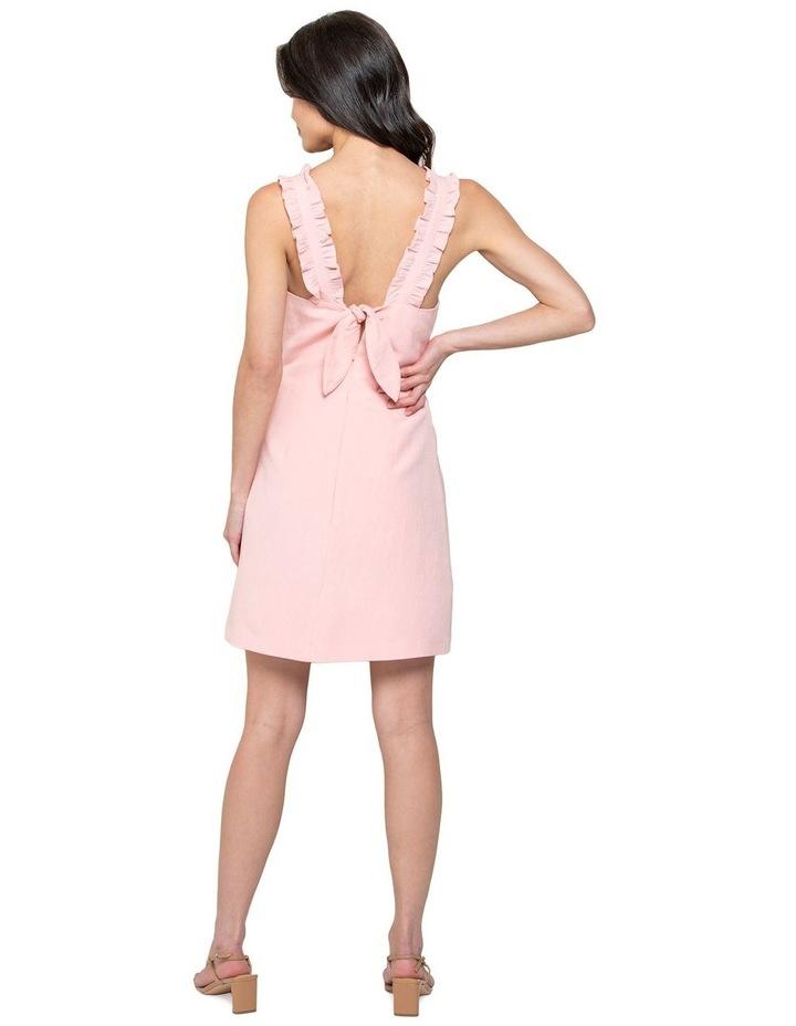 Demi Linen Frill Mini Dress image 3