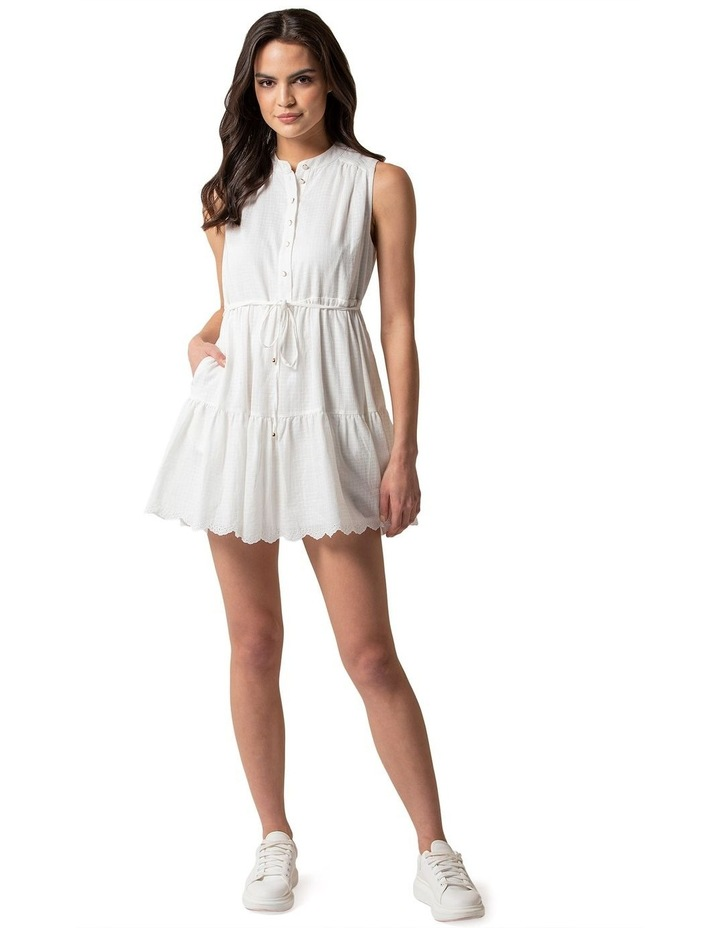 Alex Petite Textured Smock Dress image 1