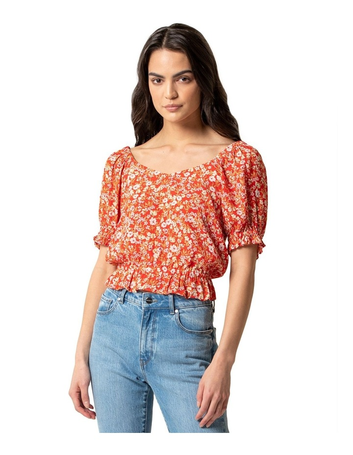 Giselle Puff Sleeve Crop Co-ord image 1
