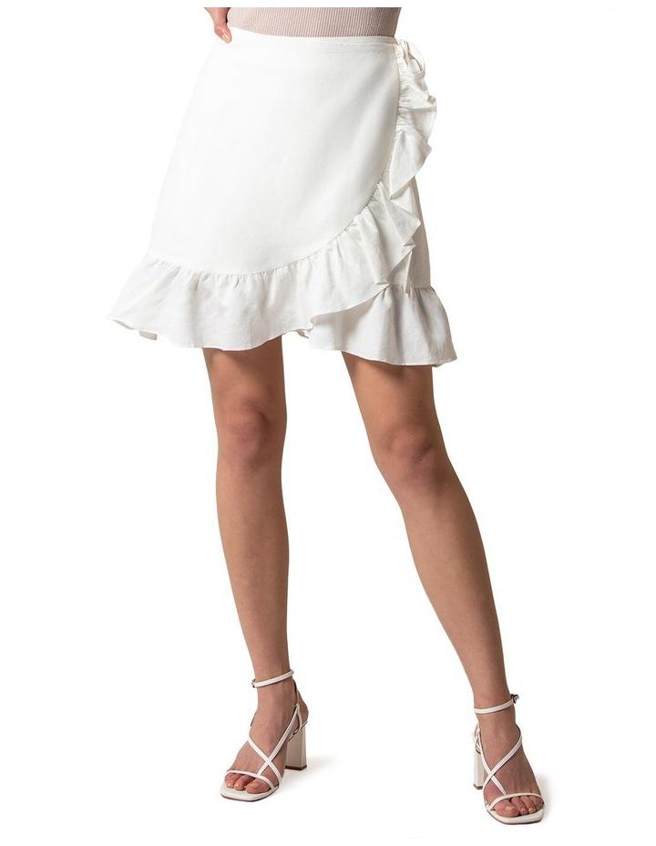 Nala Wrap Linen Mini Skirt image 1