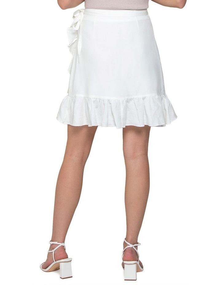 Nala Wrap Linen Mini Skirt image 3