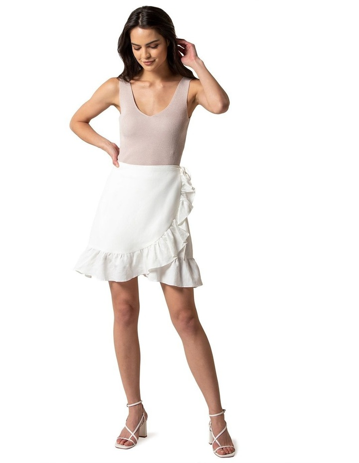 Nala Wrap Linen Mini Skirt image 4