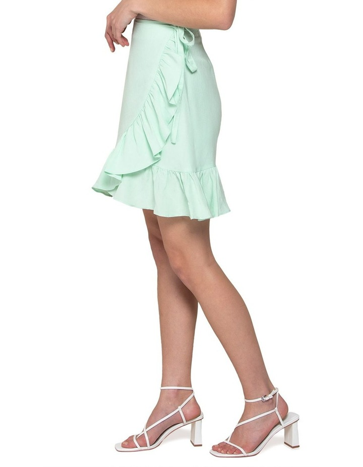 Nala Wrap Linen Mini Skirt image 2