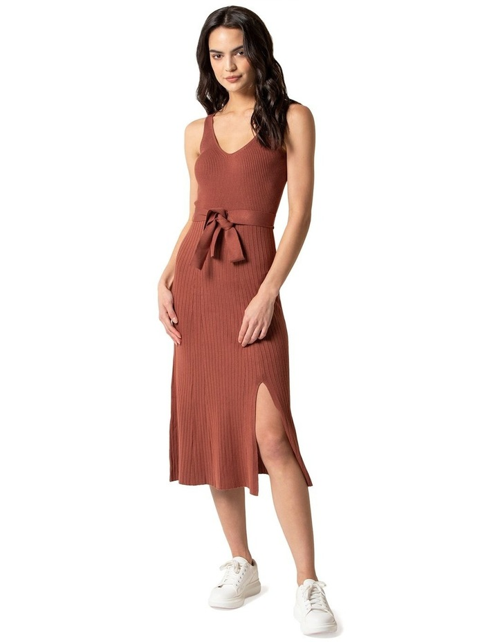 Colette Fit and Flare Midi Knit Dress image 1