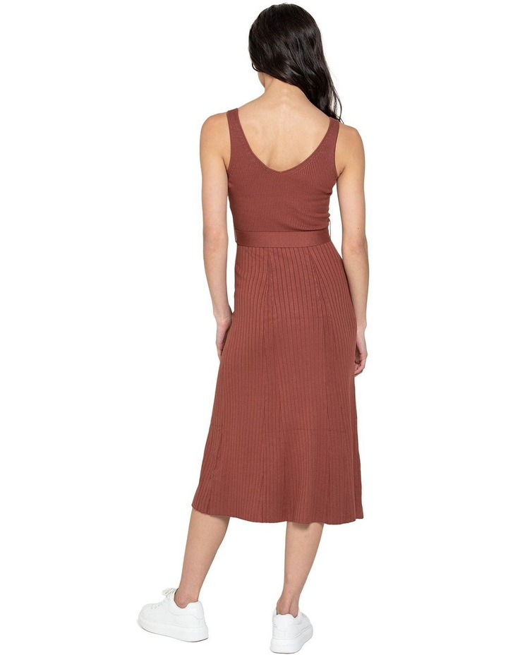 Colette Fit and Flare Midi Knit Dress image 3