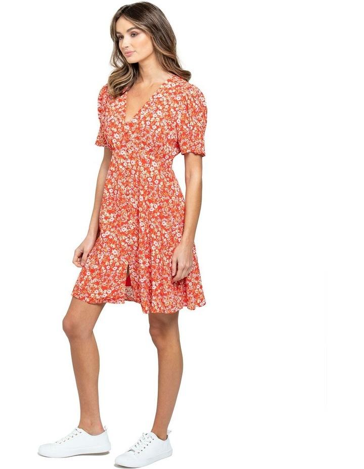 Saffron Printed Mini Sun Dress image 2