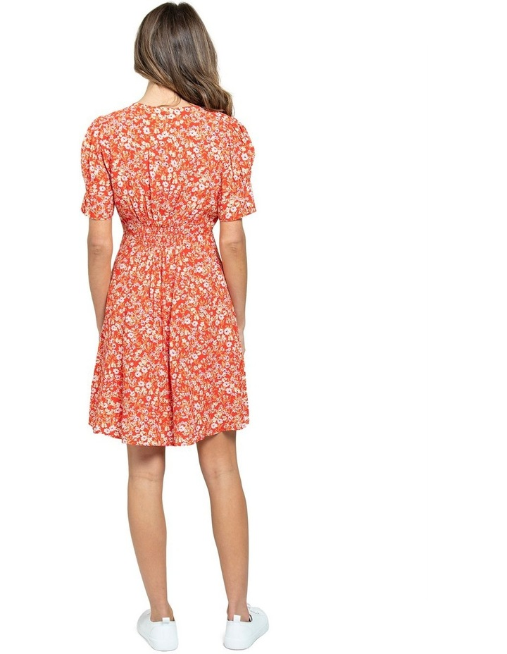 Saffron Printed Mini Sun Dress image 3