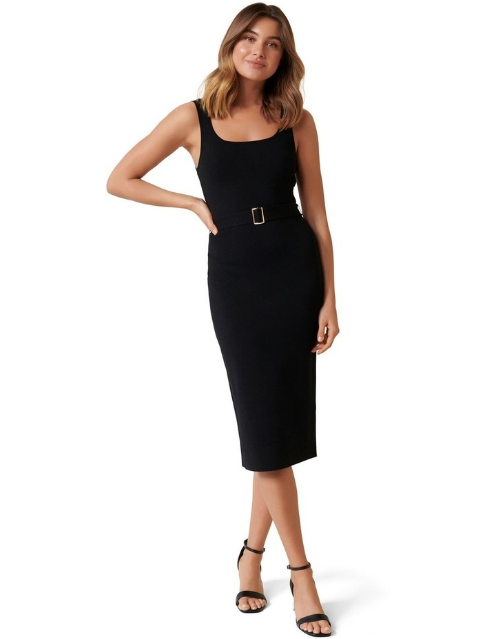 Gabriella Square Neck Midi Knit Dress image 1