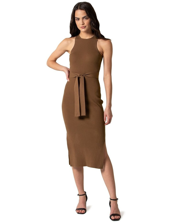 Ivy Racer Column Midi Knit Dress image 1
