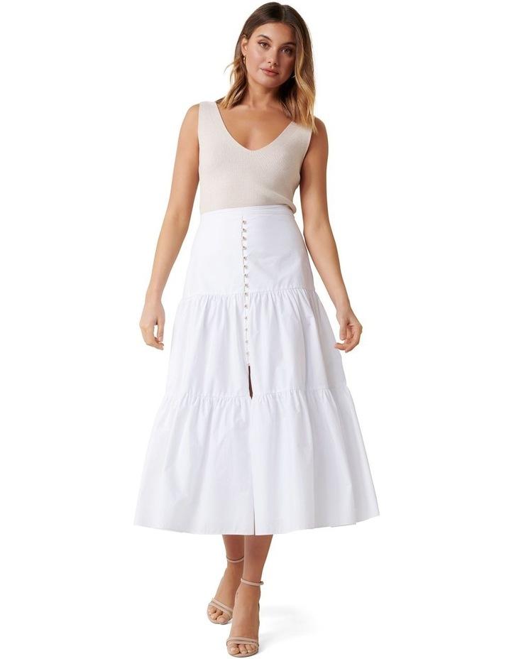 Tammy Tiered Poplin Midi Skirt image 1