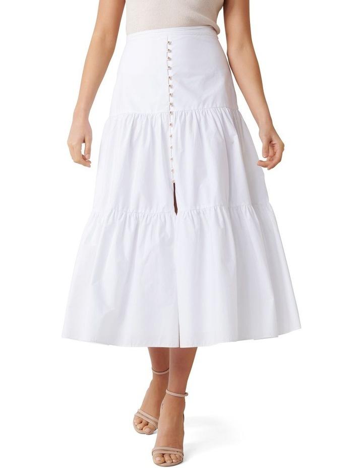 Tammy Tiered Poplin Midi Skirt image 2