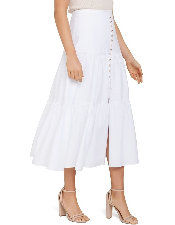 Tammy Tiered Poplin Midi Skirt image 3