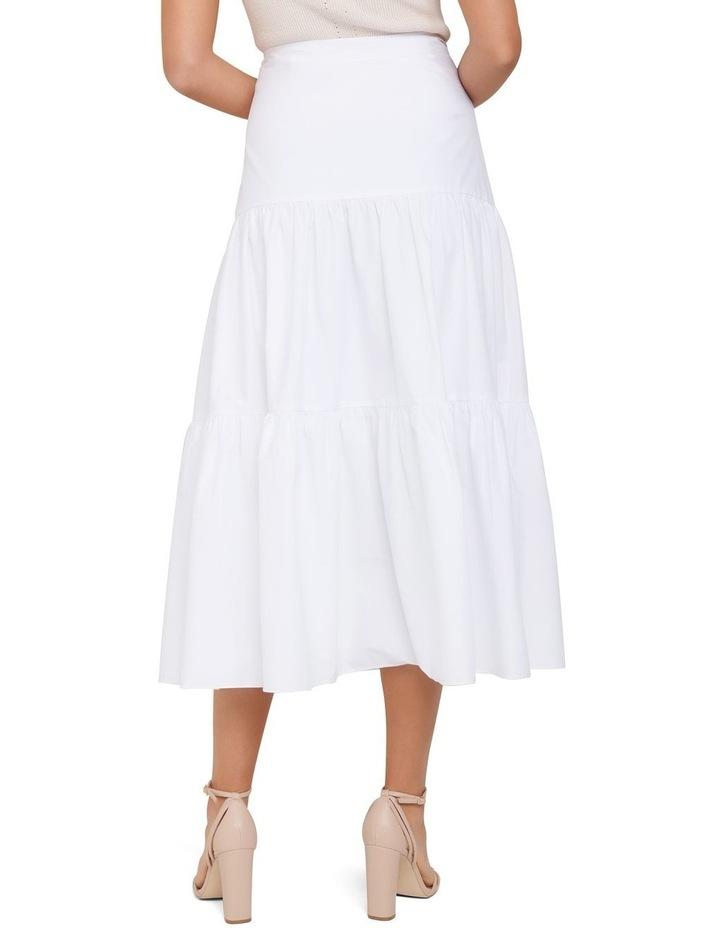 Tammy Tiered Poplin Midi Skirt image 4