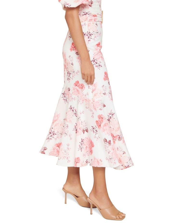 Elena Linen Blend Belted Asymmetric Skirt image 2