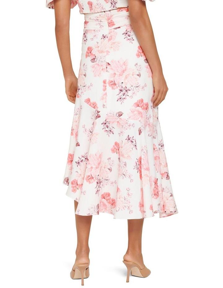 Elena Linen Blend Belted Asymmetric Skirt image 3
