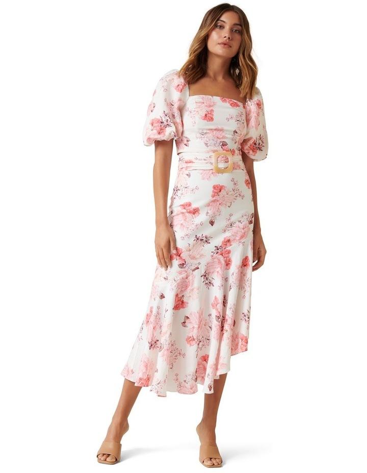 Elena Linen Blend Belted Asymmetric Skirt image 4