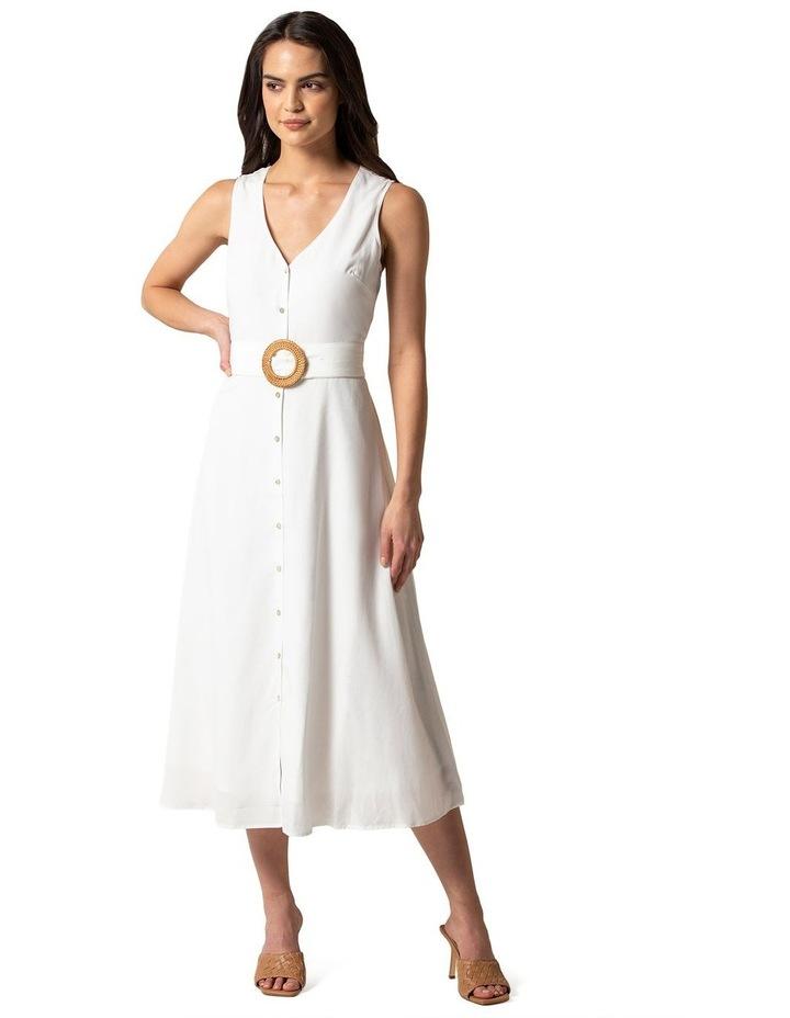 Mina A-line Belted Midi Dress image 1
