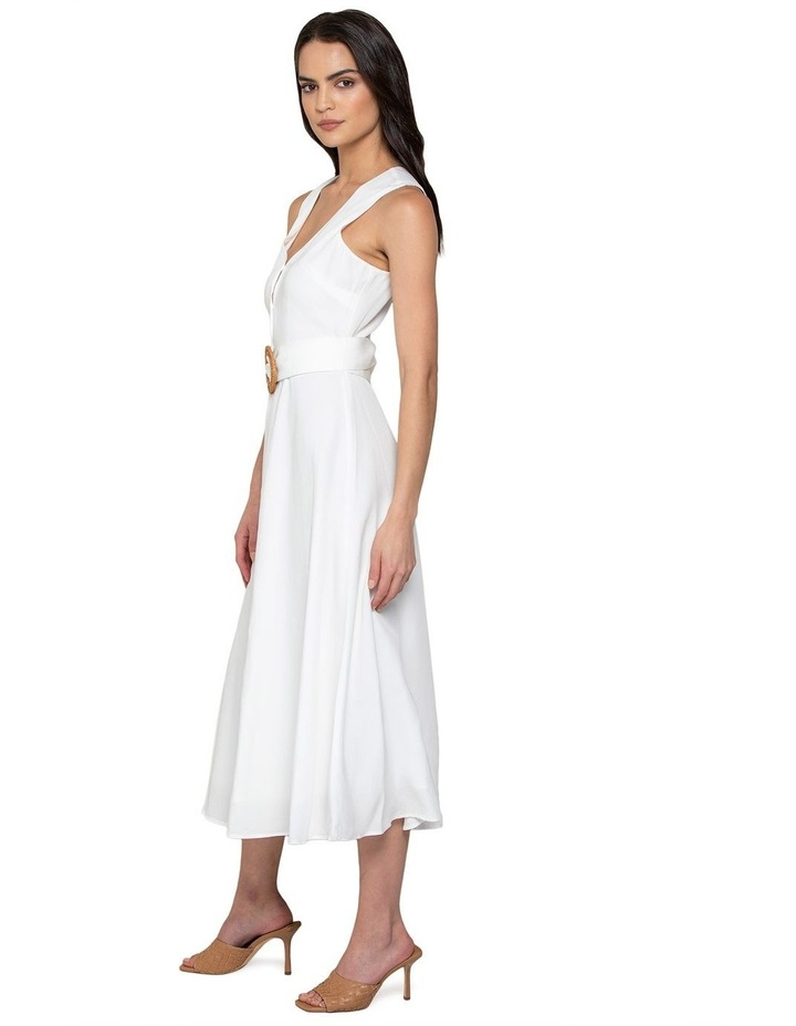 Mina A-line Belted Midi Dress image 2