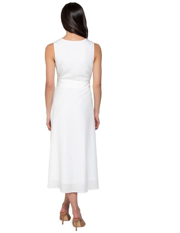 Mina A-line Belted Midi Dress image 3